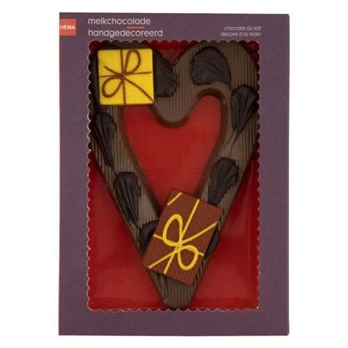 melkchocolade hart pakketjes