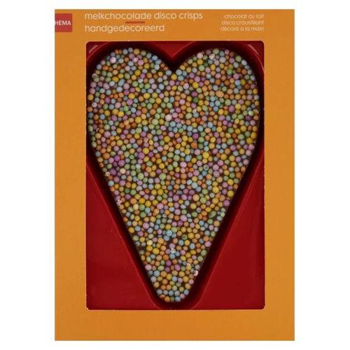 melkchocolade hart disco hagel