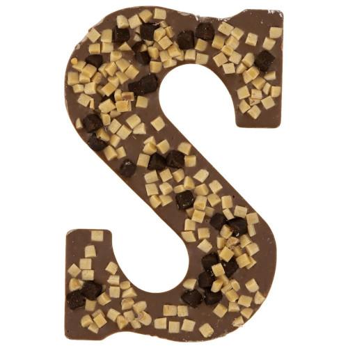 melkchocolade letter brownie fudge