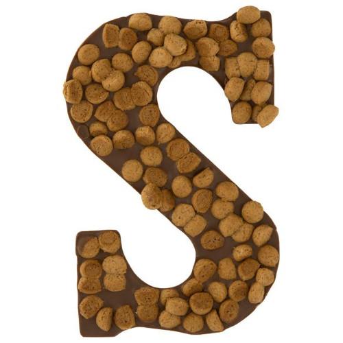 melkchocolade letter kruidnootjes