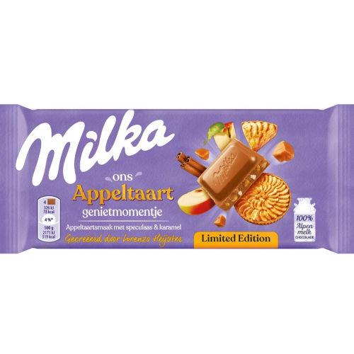 Milka appeltaart chocoladereep