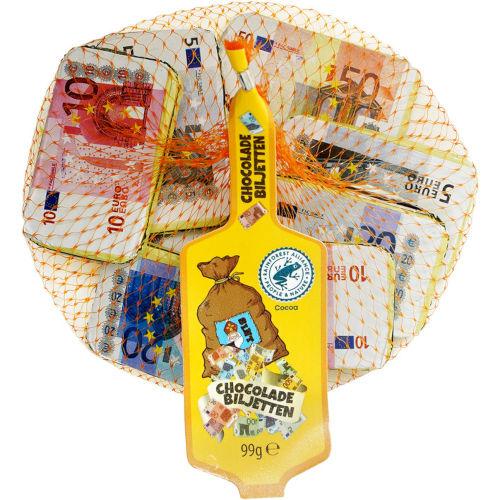 Sinterklaas chocolade bankbiljetten
