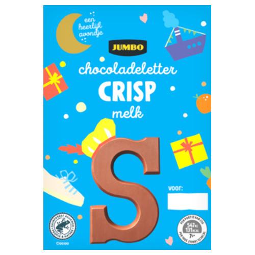 Sinterklaas chocoladeletter melk crisp