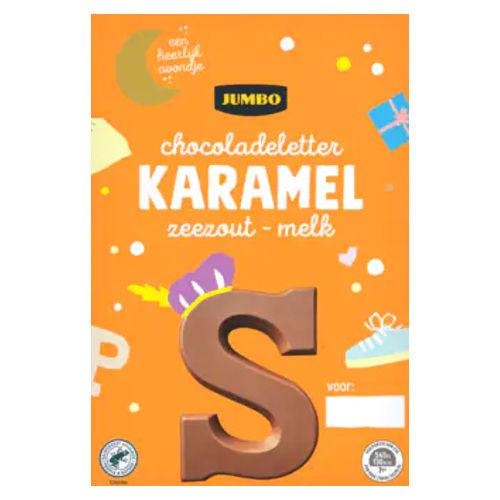 Sinterklaas chocoladeletter melk karamel zeezout