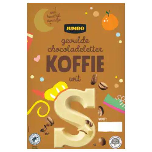 Sinterklaas chocoladeletter wit koffie