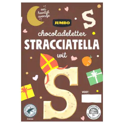 Sinterklaas chocoladeletter wit stracciatella