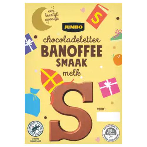 Sinterklaas chocoladeletter melk banoffee