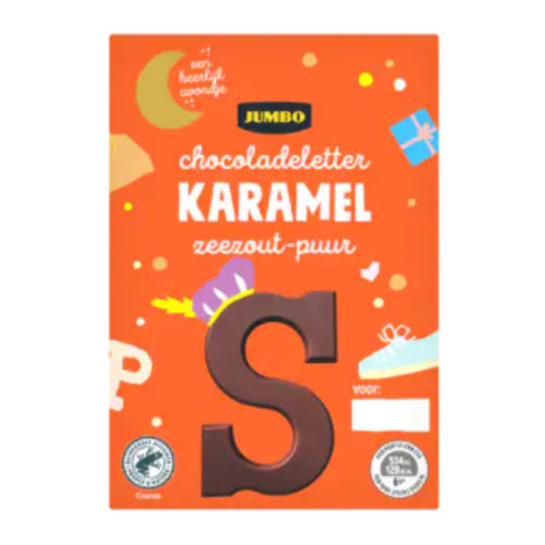 Sinterklaas chocoladeletter puur karamel zeezout