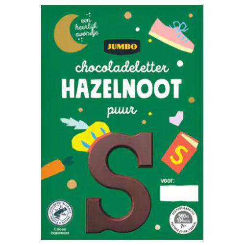 Sinterklaas chocoladeletter puur hazelnoot