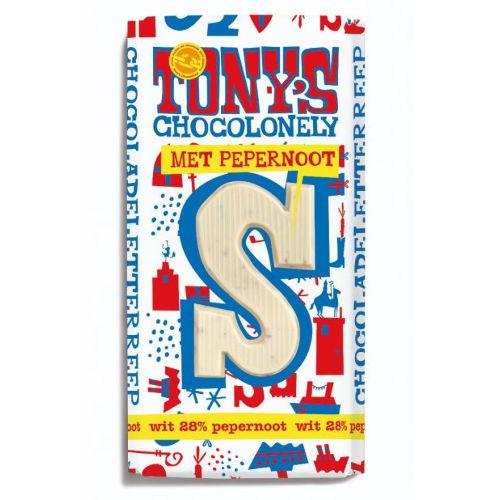 Tony's Chocolonely Letterreep S wit pepernoot
