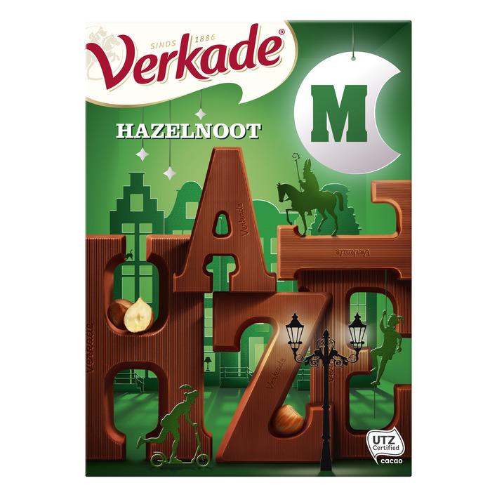 Verkade Chocoladeletter Melk/Hazelnoot