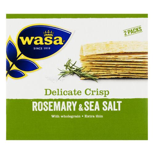 wasa dunne crackers rozemarijn zeezout