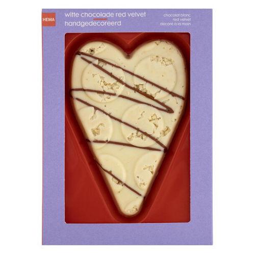 witte chocolade hart red velvet