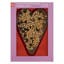 melkchocolade hart brownie fudge
