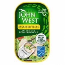 John West Makreel Filets in Zonnebloemolie