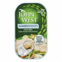 John West Makreel Filets Naturel