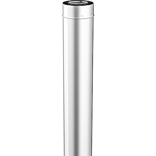 Pelletkachel 100cm afvoerbuis Rvs dubbelwandig