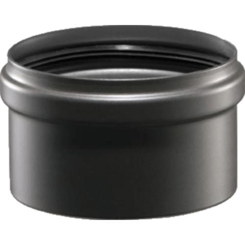 T-stuk dop afvoermateriaal pelletkachel zwart