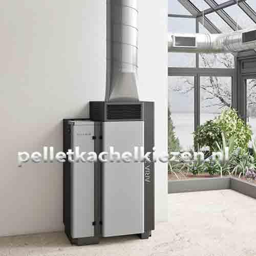 Pellet Luchtverwarming Aria 30Kw