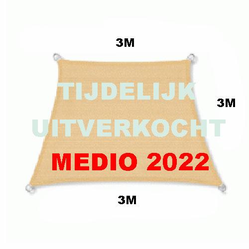 Zonnedoek 3x4x3x3m 190gr zand