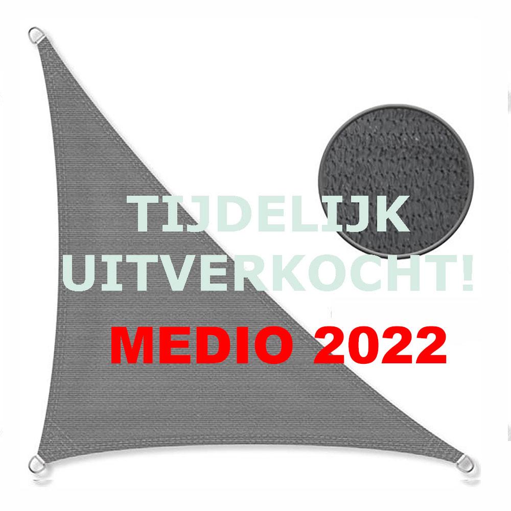 Zonnedoek 2x2x3m 190gr/m²  90º antraciet