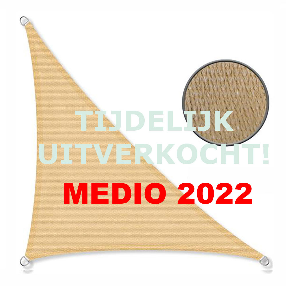Zonnedoek 2x3x4m 190gr/m² 90º zand