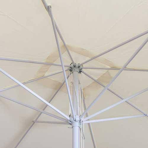 parasol 3m rond ecru detail