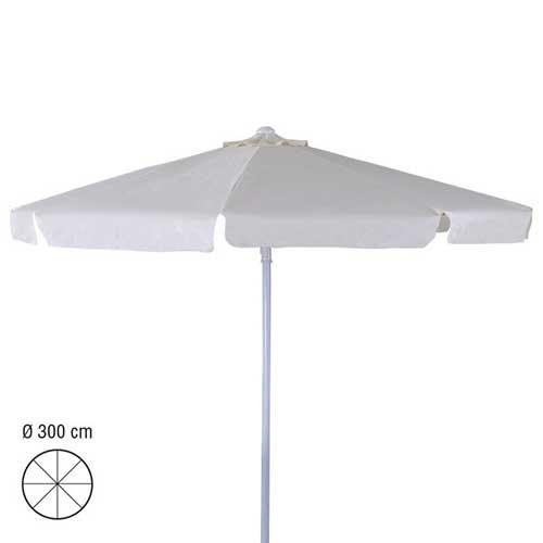 parasol 3m rond ecru