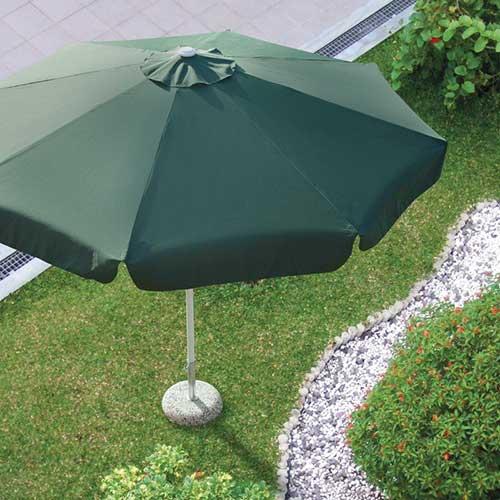 parasol 3m rond groen sfeer
