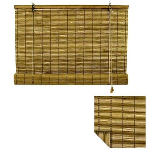 rolgordijn bamboe 130x160 cm bruin