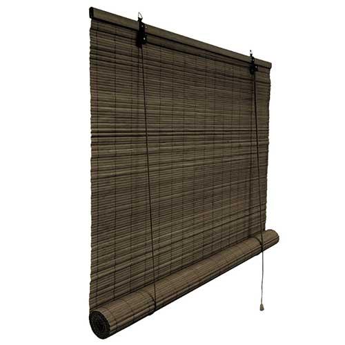 rolgordijn bamboe 130x160 cm donkerbruin