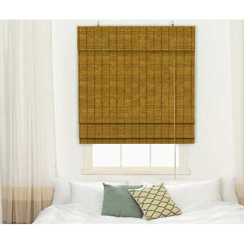 bamboe vouwgordjn 80x220 cm bruin