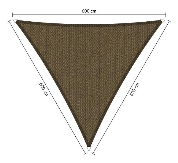 Zonnedoek 2x2x2m 285gr/m² japanese brown