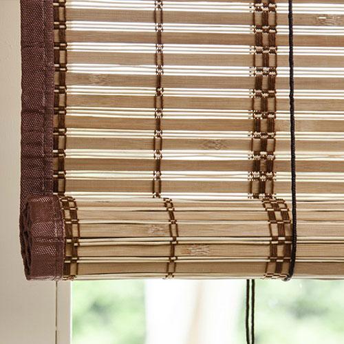 bamboe rolgordijn egitto naturel 100 cm detail