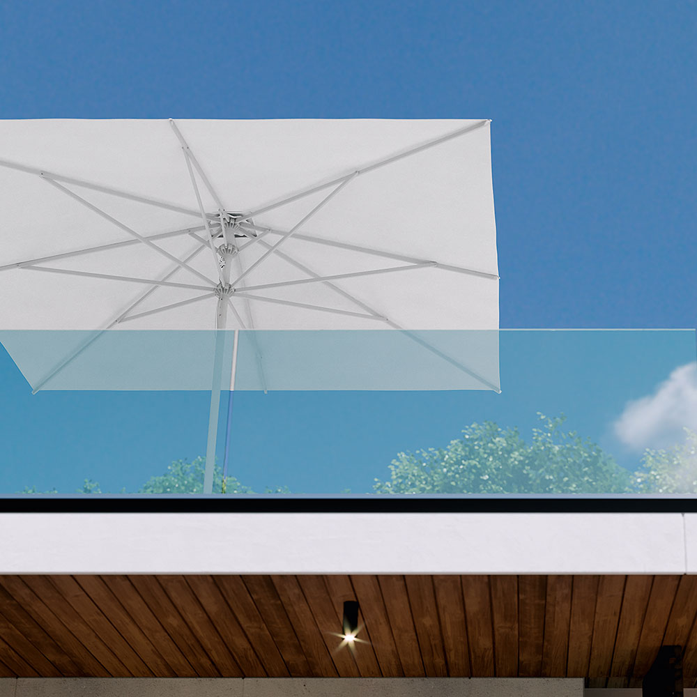 aluminium terras parasol petrarco