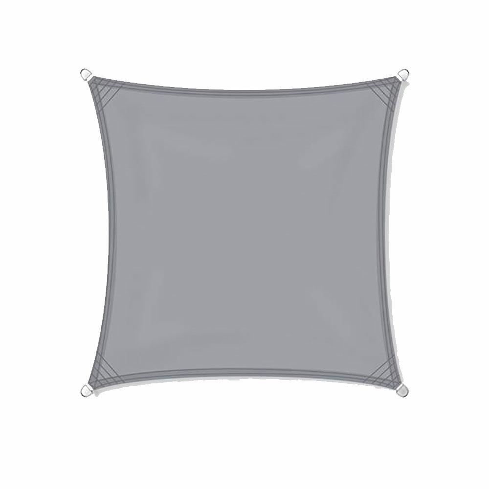 Zonnezeil 4x4m 160gr grijs waterdicht