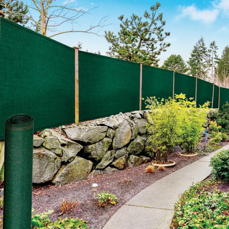 winddoek 120 cm groen 20% doorkijk tuinafscheiding