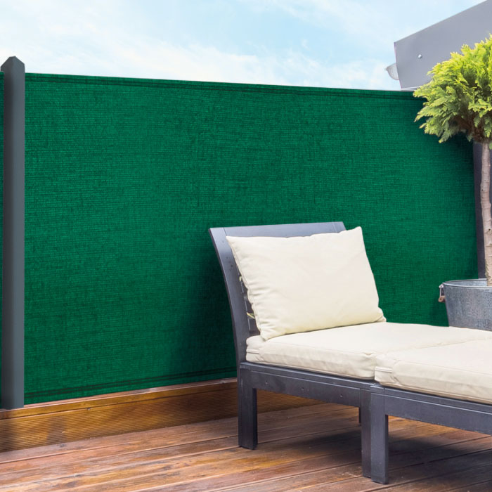 winddoek 120 cm groen 20% doorkijk tuin hekwerk