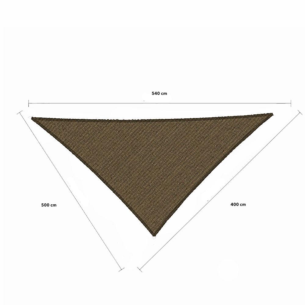 Zonnedoek 4x5x5,4 285gr/m²  90° japanese brown