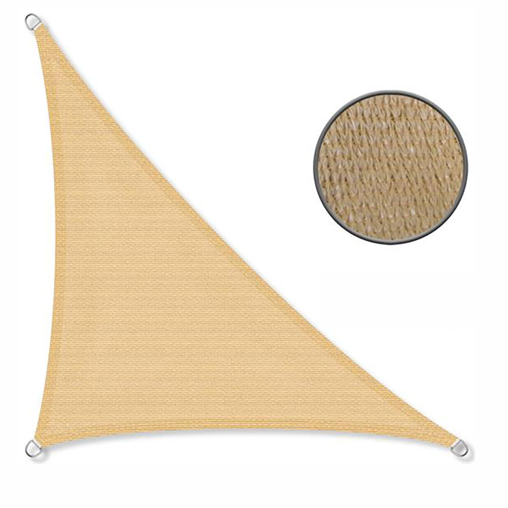 Schaduwdoek 90° 2,5x2,5x3,5m 240 g/m2 zand
