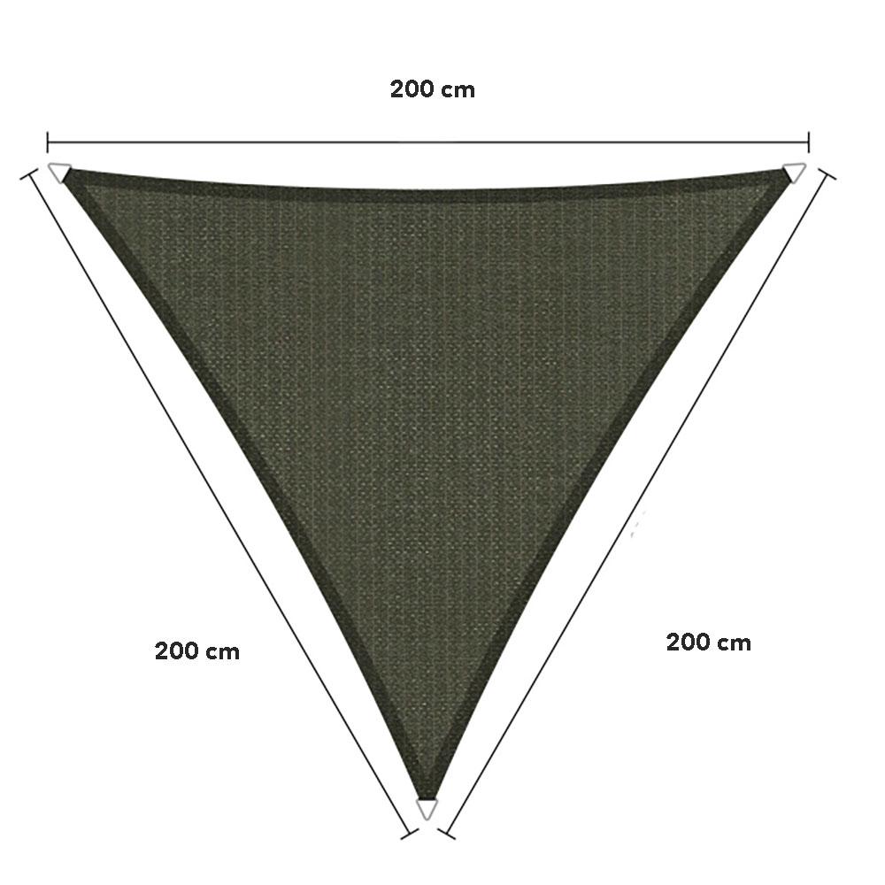 Zonnedoek  2x2x2m 285gr/m² deepgrey