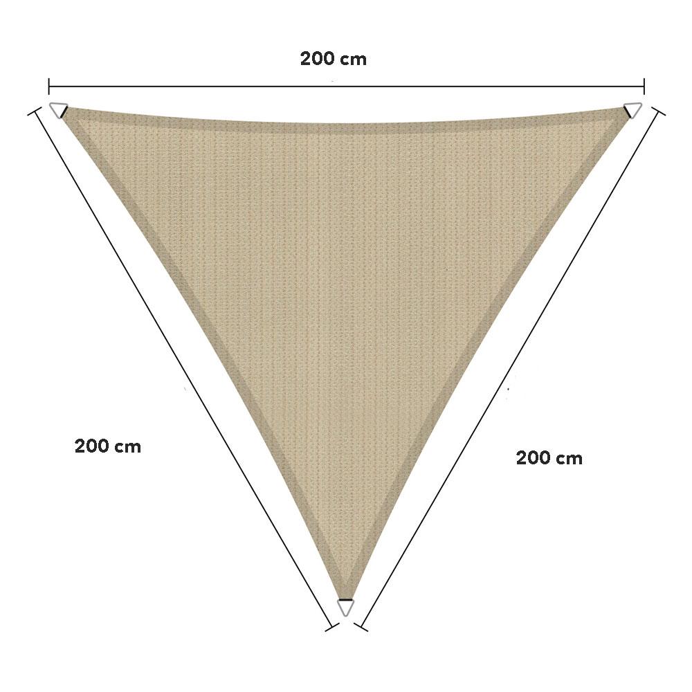 Zonnedoek  2x2x2m 285gr/m² neutral sand