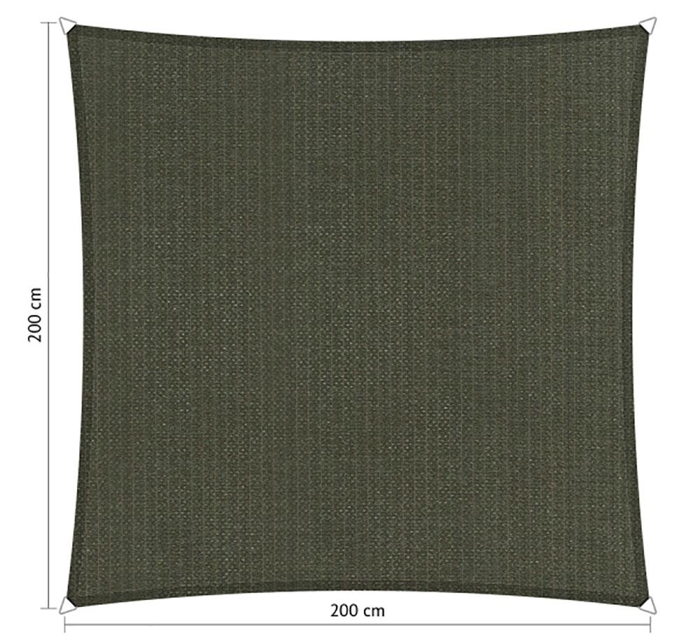 Zonnedoek 2x2m 285gr deep grey