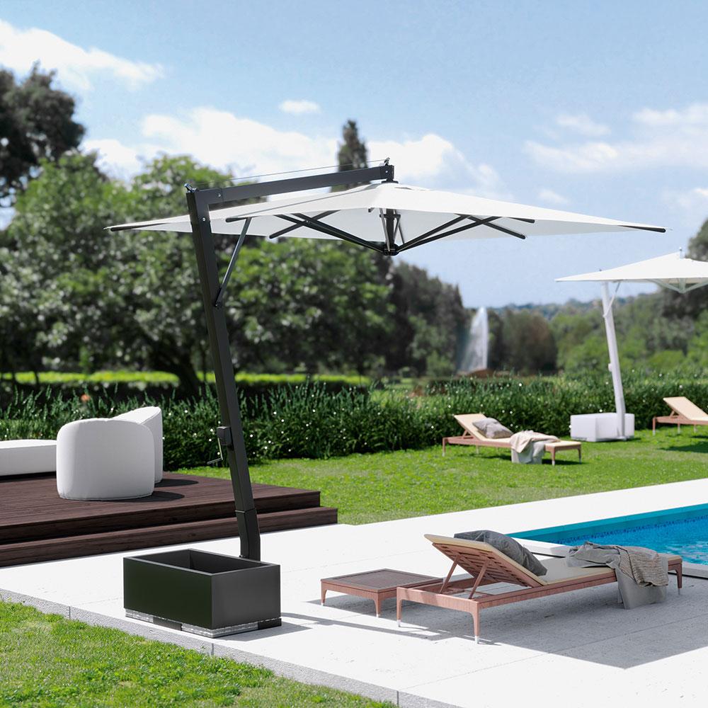 saturno aluminium parasol