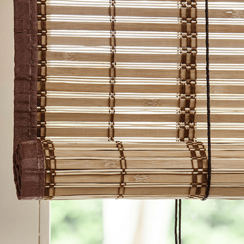 bamboe rolgordijn egitto naturel 180 cm detail