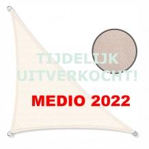 Zonnedoek 2x2x3m 190gr/m² 90º crème