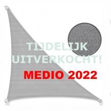 Zonnedoek 2x2x3m 190gr/m² 90º grijs