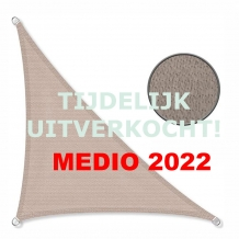 Zonnedoek 2x2x3m 190gr/m² 90º taupe