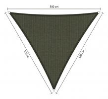 zonnedoek driehoek 5x5x5m deepgrey