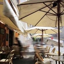 houtstok parasol 3m